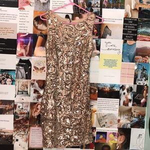 Rose Gold coctail sequin dress